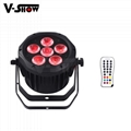 6*18W 6in1 Waterproof Battery Powered & wireless DMX LED Par
