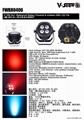 4*18W 6in1 RGBWA+UV Waterproof Battery Powered & wireless DMX LED Par IR control 6