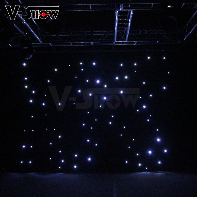 V-Show LED star curtain Background curtain lights 3*4M with controller 9