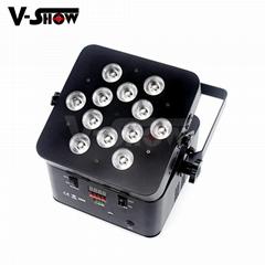 rechargeable battery flat led par can,slim battery par ,battery wedding par