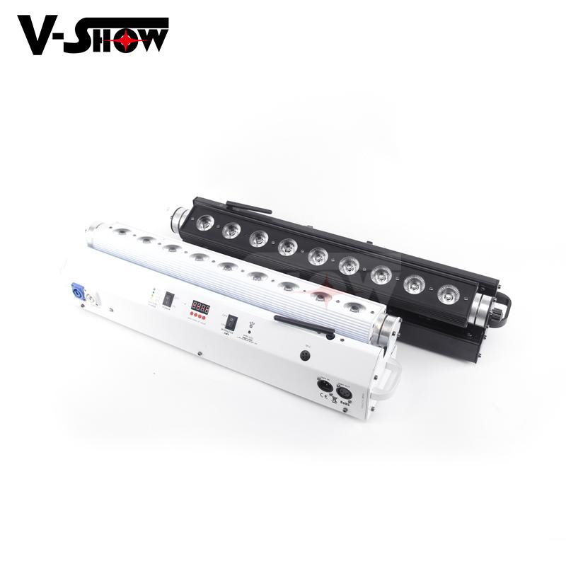 led color wash 9*18w rgbwa uv led moving wash bar with battery and wireless