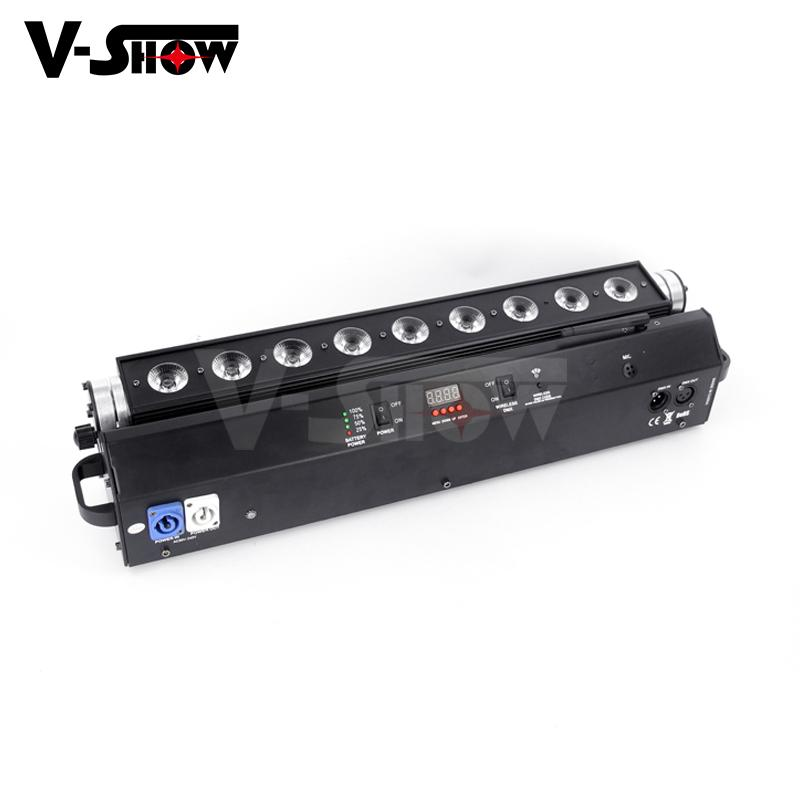 battery led moving bar 9*18w rgbwa uv wireless dmx +battery moving color wash  2