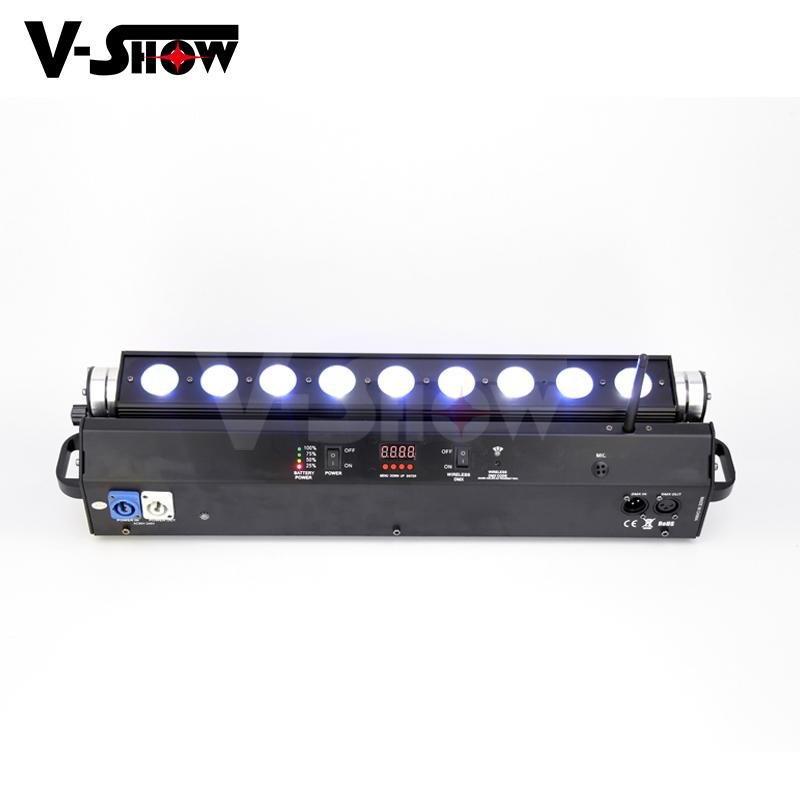 battery led moving bar 9*18w rgbwa uv wireless dmx +battery moving color wash  3