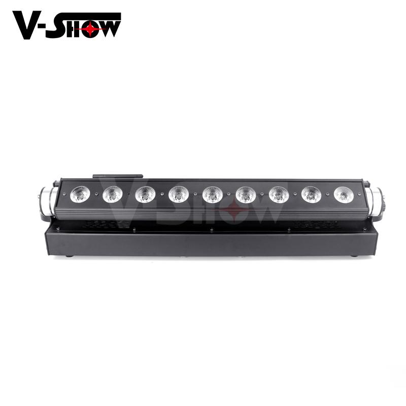 battery led moving bar 9*18w rgbwa uv wireless dmx +battery moving color wash  7