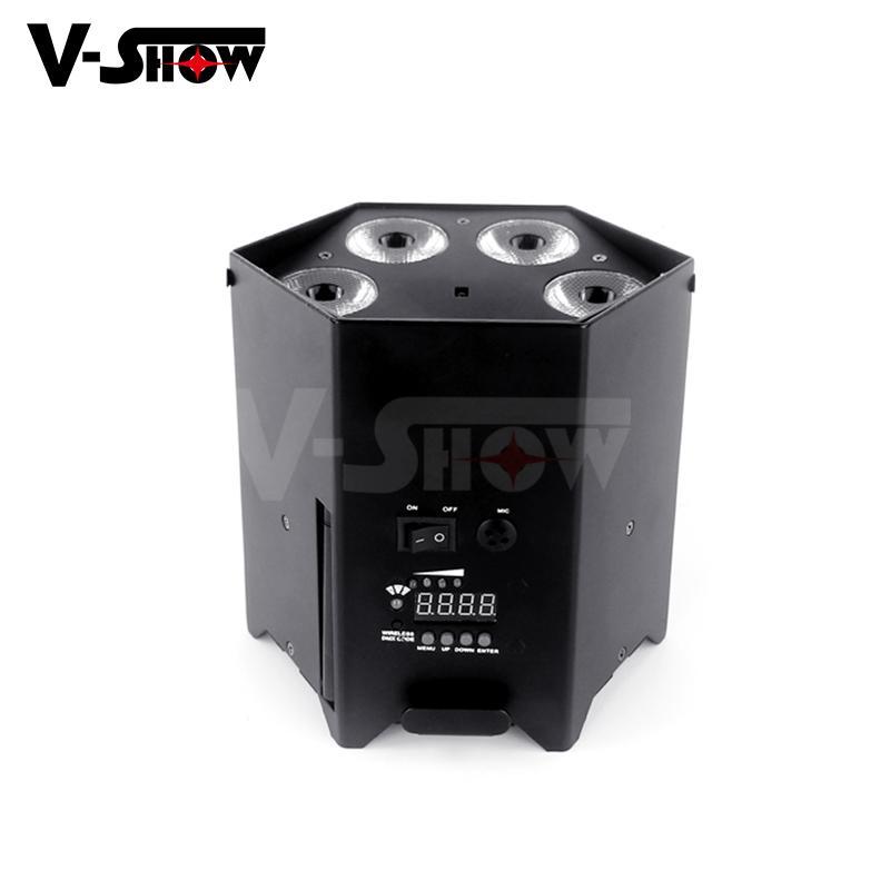6*18w rgbwa uv battery power +wifi +irc led uplight ,disco wifi par ,mobile dj  4