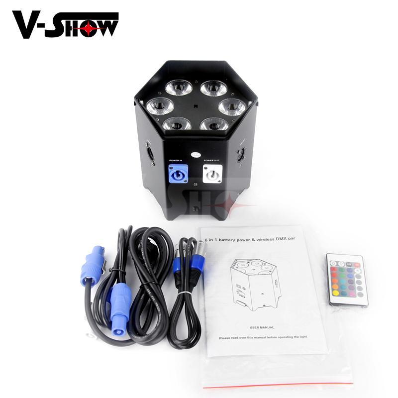 6*18w rgbwa uv battery power +wifi +irc led uplight ,disco wifi par ,mobile dj  5