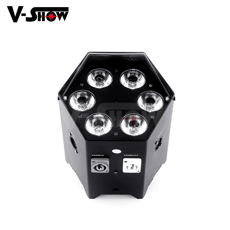 6*18w rgbwa uv battery power +wifi +irc led uplight ,disco wifi par ,mobile dj  6