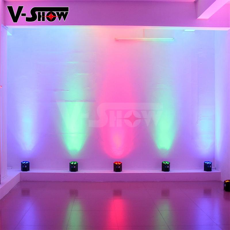6*18w rgbwa uv battery power +wifi +irc led uplight ,disco wifi par ,mobile dj  9