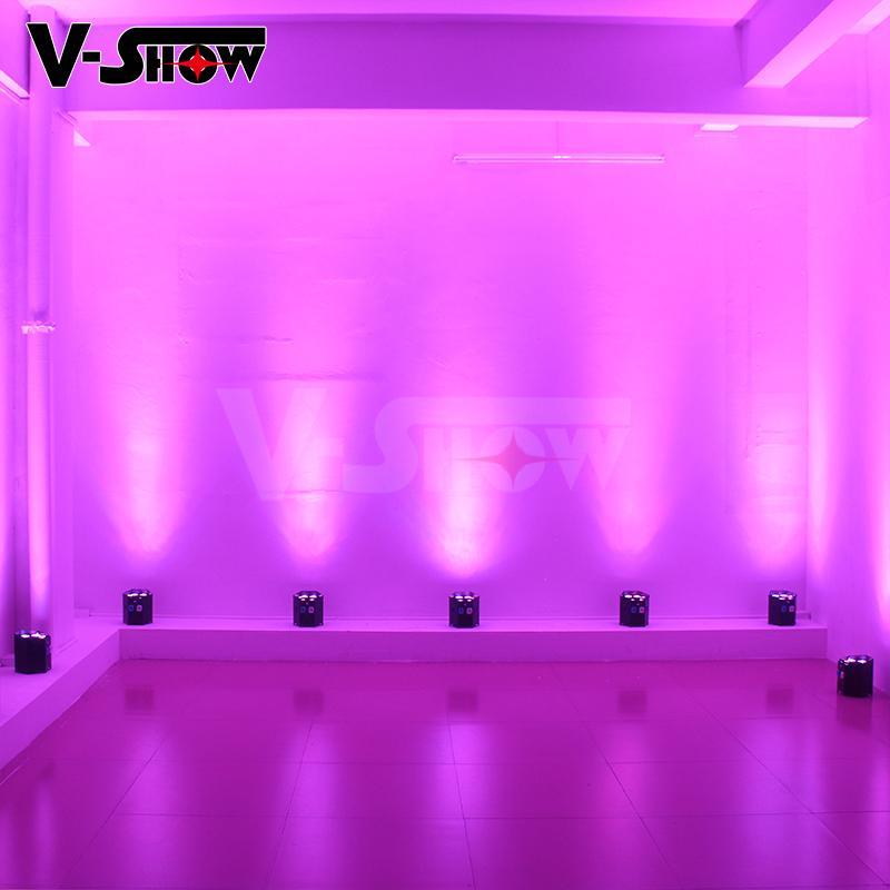 6*18w rgbwa uv battery power +wifi +irc led uplight ,disco wifi par ,mobile dj  10