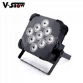 9*18w rgbwa uv battery powered led uplight ,perfect for wedding ,events,club ,dj 1