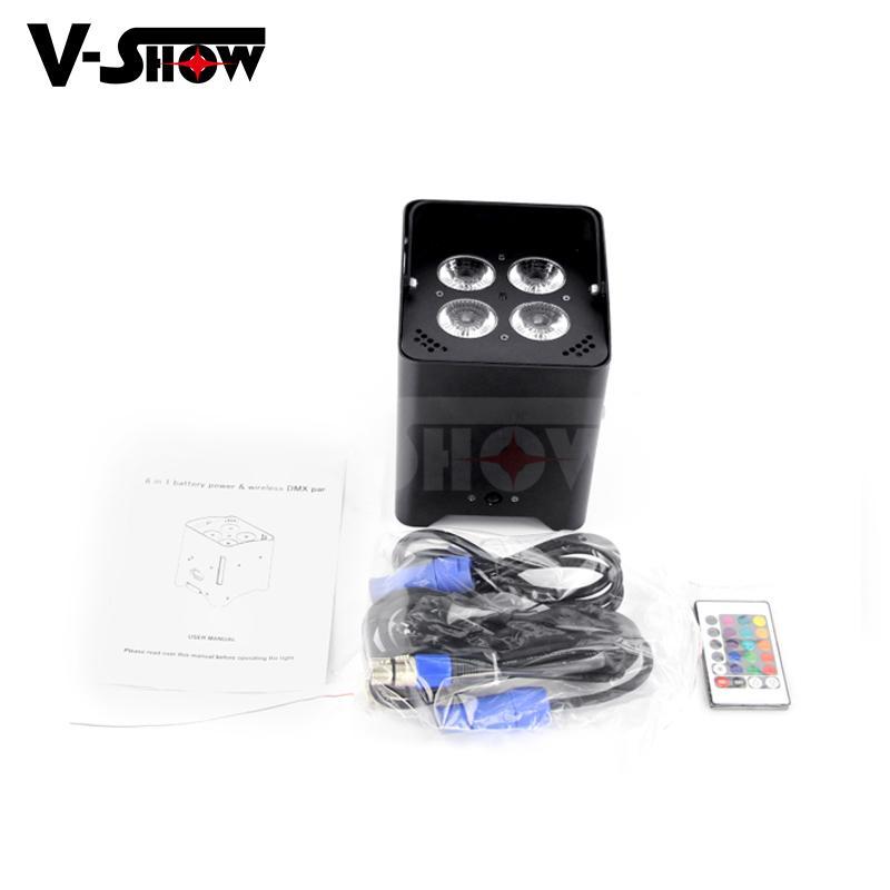 new arrivaldj ighting  4*18w rgbwa uv wireless dmx +battery +ir remote led par 5