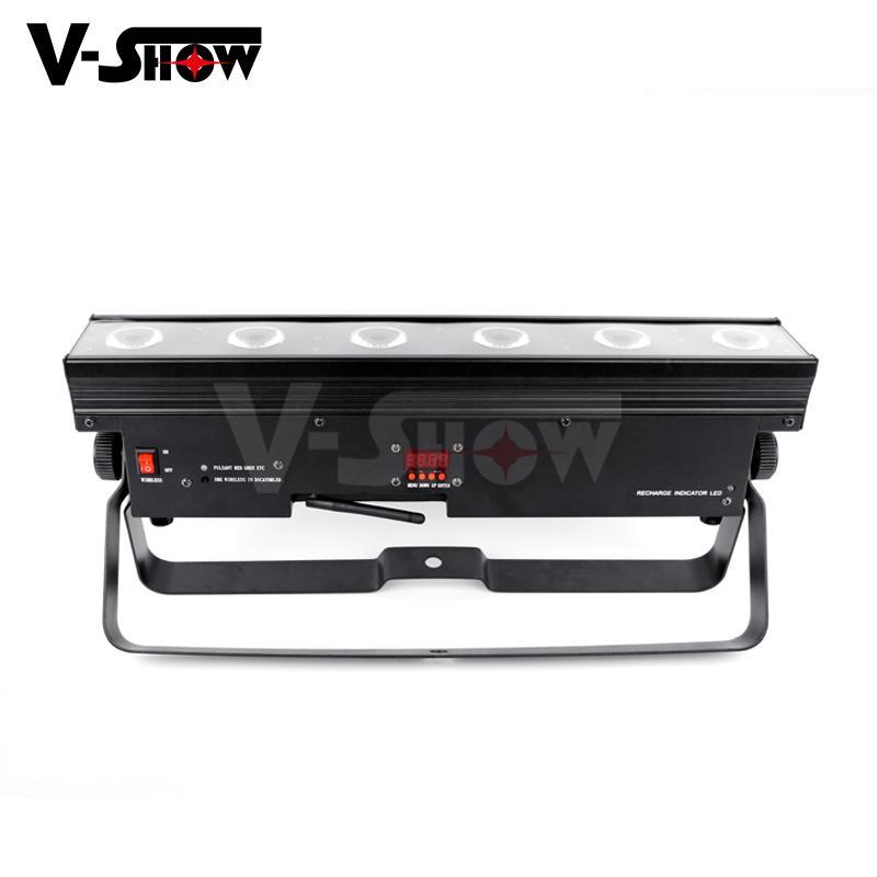 battery powered led wall washer  6*15w rgbwa wireless &battery led bar uplight