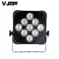 club decoration battery +wireless dmx led 9*18w rgbwa uv uplight par led  3