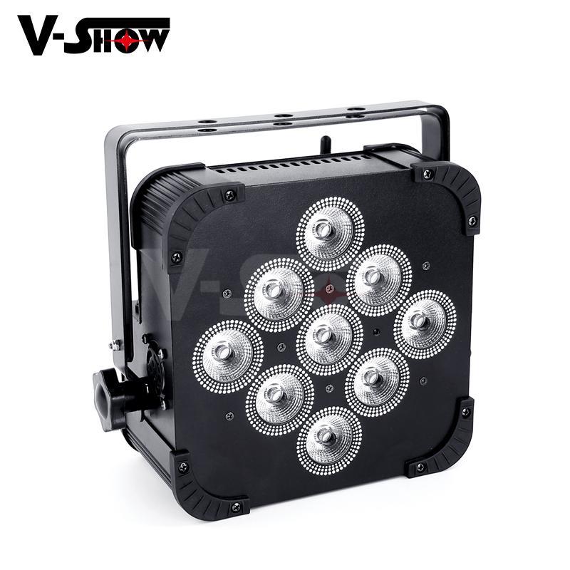 club decoration battery +wireless dmx led 9*18w rgbwa uv uplight par led  4