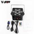 12*18w 6in1 battery powered & wireless DMX LED uplight par ,wedding decoration