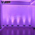 battery powered wirless dmx led par can 9*18w rgbwa wedding decoration slim par
