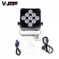 9*18w rechargeable battery &wireless dmx