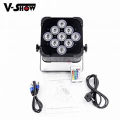 9*18w rechargeable battery &wireless dmx led par can battery dj par can