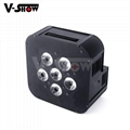 6*18W wedding light recharge battery par can with wireless control flat par can