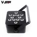 slim par led 12*18w rgbwa uv led par  ,led dj par for wedding ,mobile events