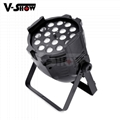 18pcs 18w rgbaw uv aluminum mini led par dj zoom stage light with 8 - 60 degree  1