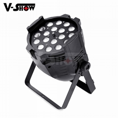 18pcs 18w rgbaw uv aluminum mini led par dj zoom stage light with 8 - 60 degree