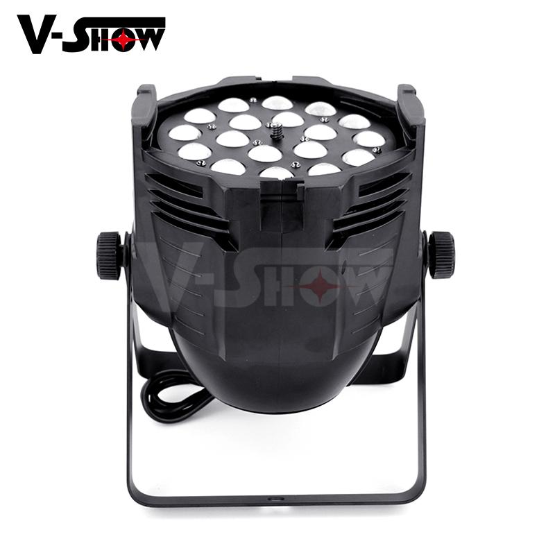 18pcs 18w rgbaw uv aluminum mini led par dj zoom stage light with 8 - 60 degree  3