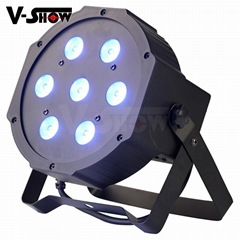 7*10W RGBW 4in1 Mega LED Par Flat Par