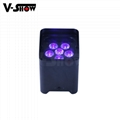 6*18W RGBWA+UV 6in1 Battery/Wireless DMX/Wifi Remote LED battery Uplight 4