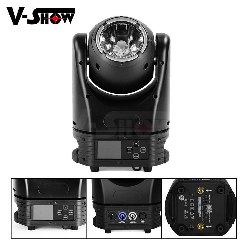 Mini 60W LED Beam with halo Moving Head Light Stage Disco DJ Light 4