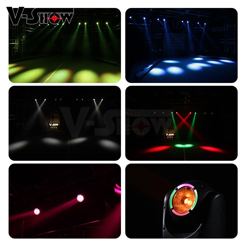 Mini 60W LED Beam with halo Moving Head Light Stage Disco DJ Light 11