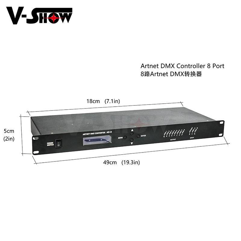 Artnet DMX Controller 8 Port channels for Stage Light control Dj 2