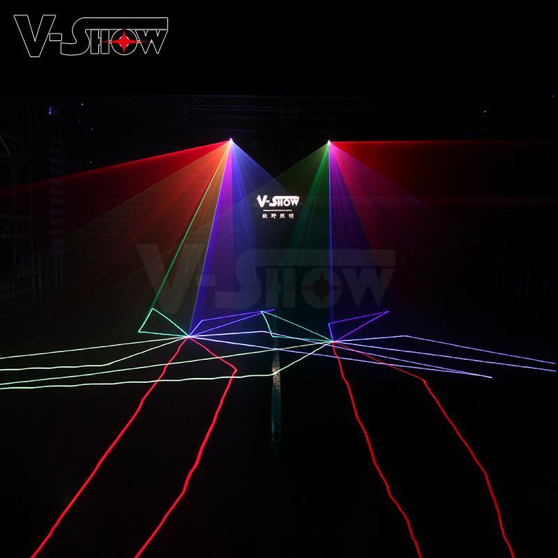 New 3W RGB Laser Animation Light Stage Laser Projector Light DMX ILDA DJ Disco 10