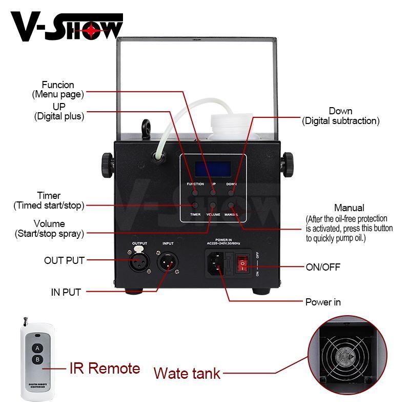 Mini Fog Machine 500w Wedding Stage KTV DMX Remote Control Spray Smoke Machine 6