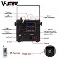 Mini Fog Machine 500w Wedding Stage KTV DMX Remote Control Spray Smoke Machine