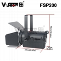 LED Fresnel FSP200 Spotlight 200W with Manual zoom 200W LED Fresnel Spotlight