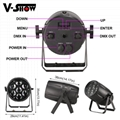 Outdoor Waterproof 7*40W Zoom LED Par Light RGBW 4in1 DMX RDM Par Light for DJ D 4