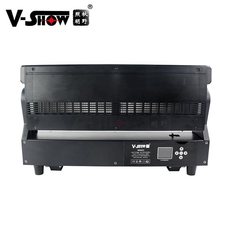 V-show 2021 luces led led bar dmx rgbw 6*40W zoom wash beam moving head for dj d 5