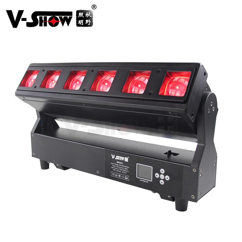 V-show 2021 luces led led bar dmx rgbw 6*40W zoom wash beam moving head for dj d 1