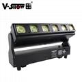 V-show 2021 luces led led bar dmx rgbw 6*40W zoom wash beam moving head for dj d 12