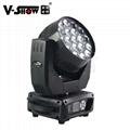 Aura 19x15w 4 in 1 rgbw led moving head zoom wash Beam light led moving head