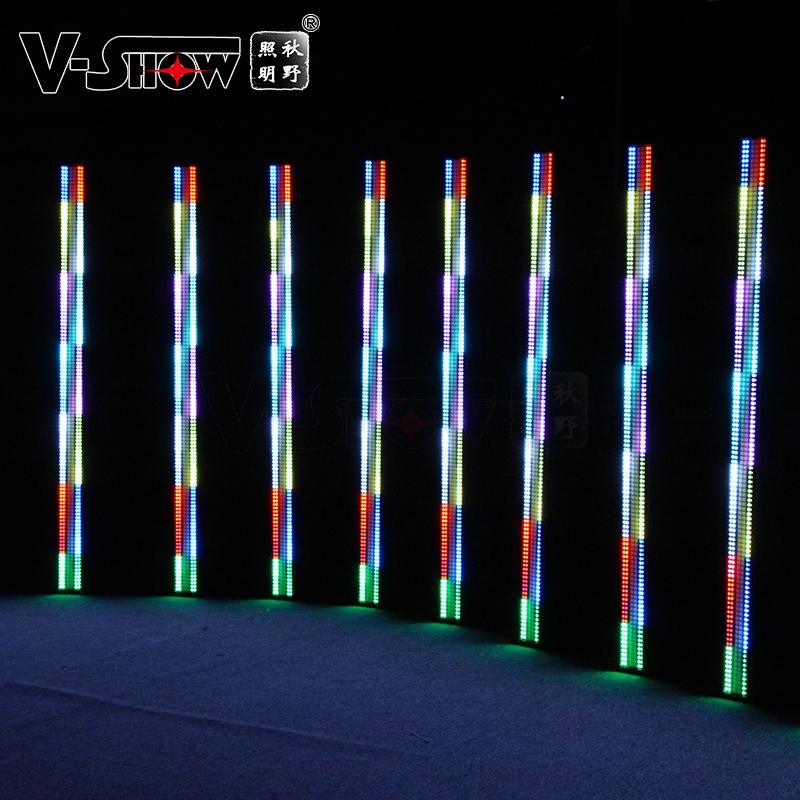 V-SHOW NEW arrive 240pcs 5W 7575+480pcs 0.3W RGB 3in1 SMD led pixel controller w 7