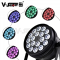 V-Show Led Stage Lighting Led par Can lights 18*10W RGBW 4in1 for A Church Stage
