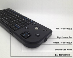 Wireless mini-keyboard, Tracking ball mouse, Presenter