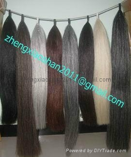 Horse hair show tail extension in 36 inches long 1 pound  1