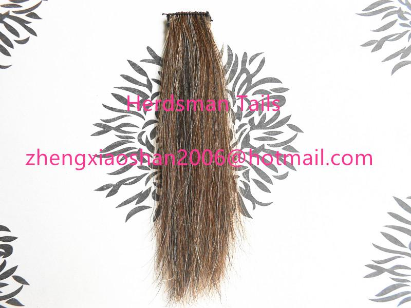 """12-15"""" horse forelock extensions and false horse forelocks made of mane hairs 1"""