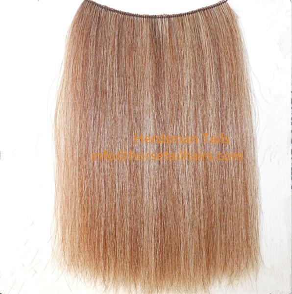 Wefted horse hairs and horse mane hairs for mane extensions and rocking horse  2