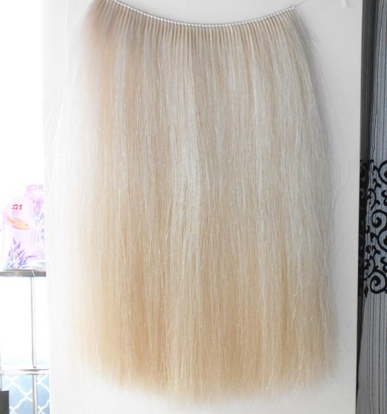 Wefted horse hairs and horse mane hairs for mane extensions and rocking horse  3