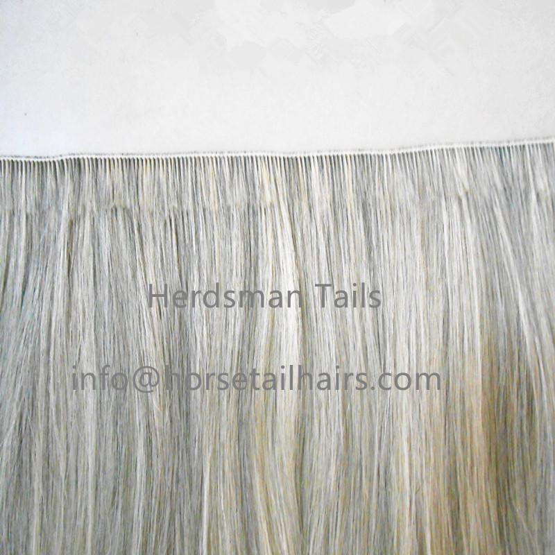 Wefted horse hairs and horse mane hairs for mane extensions and rocking horse  5