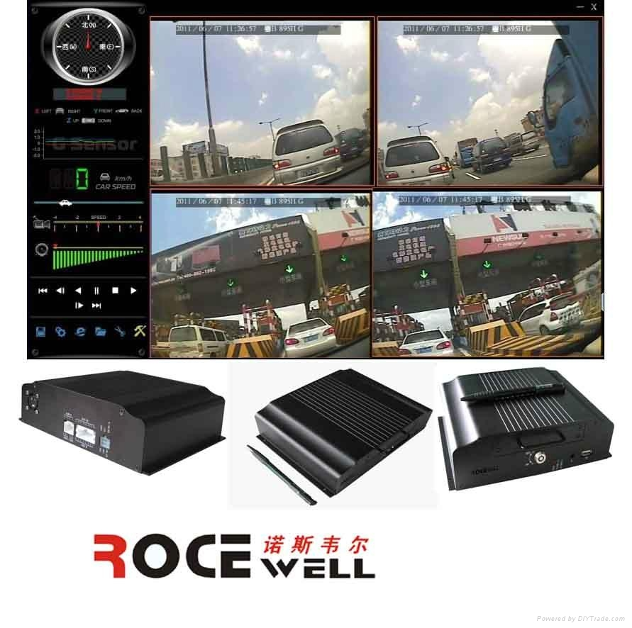 D1 H.264 realtime car surveillance video mobile DVR could be added 3G+GPS 1